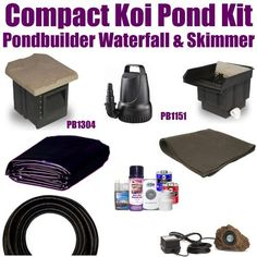 "15 x 15 Compact Pro Koi Pond Kit 2,100 GPH Pump Pondbuilder 14"" Waterfall & Pondbuilder 6"" Skimmer XSP2 by Patriot. $617.50. 1½"" x 25' Kink Free Pond Hose, (1) 20 Watt Rock Lights with 20 Watt Transformer, All Installation Hardware & Directions. 15 x 15 EPDM LifeGuard Liner (lifetime warranty-25 Years) and 225 Square Feet of Underlayment, Pondbuilder 14"" Waterfall With Media Pad and Filter Bag PB1151 & Pondbuilder 6"" Skimmer PB1304 & 2,100 GPH Pump Anjon FL2100. Li..."