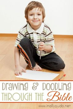 Drawing and Doodling through the Bible can be as simple or elaborate as you want it to be! Make the most of your Bible time by starting today! Family Bible Study, Types Of Learners, Ways Of Learning, Bible Crafts, Bible Lessons, School Fun, Drawings, Homeschooling, Simple