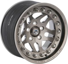 "Hutchinson Rock Monster™ 17""x8.5"" Wheel with 5x5 Bolt Pattern & 4.63"" Backspacing in Argent for 07-13 Jeep® Wrangler & Wrangler Unlimited JK"