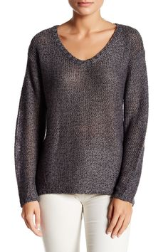 Elbow Patch V-Neck Sweater