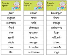 French Language Lessons, French Lessons, French Adjectives, French Worksheets, French Resources, French Class, Cycle 3, Teaching French, Learn French