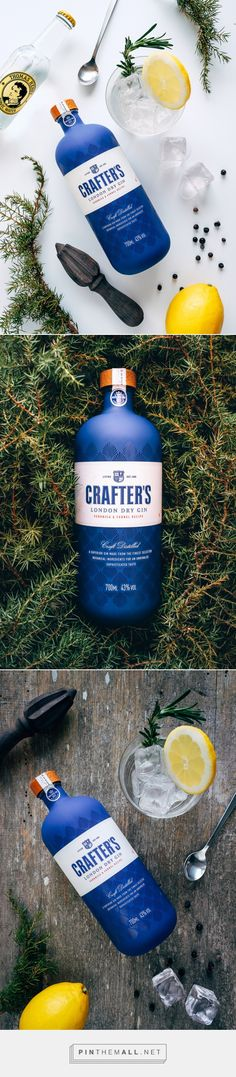 Crafters Gin design by KOOR Packaging Design - that lid seal tho Beverage Packaging, Bottle Packaging, Brand Packaging, Label Design, Branding Design, Package Design, Graphic Design, Whisky, Alcohol