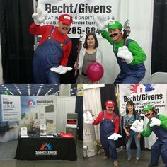 Happy World Plumbers Day to all of our amazing plumbers at Service Experts! Last week or Becht /Givens location got to take part in the Louisville Home, Garden, and Remodeling show with those 2 famous plumbers.