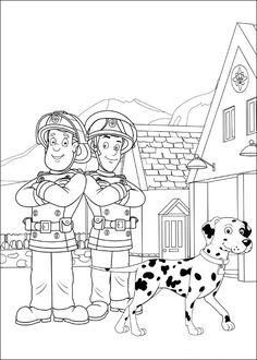 Brandweerman Sam Kleurplaten voor kinderen. Kleurplaat en afdrukken tekenen nº 35