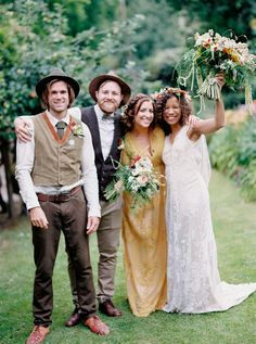 32a47e6505a A Jane Bourvis Lace Gown For A Bohemian Outdoor Wedding at Maunsell House  in Somerset