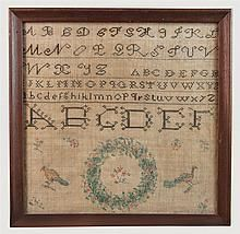 Dated 1828 Fanny M Forester Sampler - by Fontaine's Auction Gallery