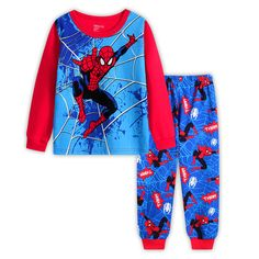 Baby Boys Clothes Sets Children 2017 New Long Sleeve Spiderman T shirt +Pants Suits For Boy Clothing Cotton Kids Pajamas Baby Outfits, Pajama Outfits, Kids Outfits, Boy And Girl Cartoon, Girls Pajamas, Baby Pyjamas, Cotton Pyjamas, Boys Suits, Kid Outfits