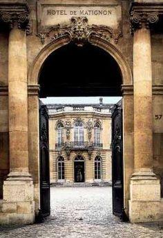 Entrance to Hôtel de Goyon-Matignon, 57 Rue de Varenne. This exquisite Hôtel is…