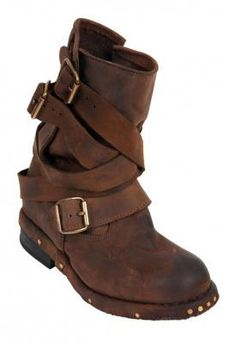 Jeffrey Campbell Brit2 Shoe in Distressed Brown