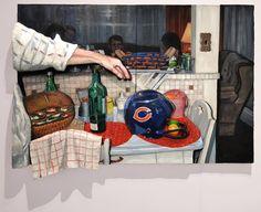Emily Blythe Jones Crafts Mixed-Media Multi-Dimensional Portraits http://alphi.xyz