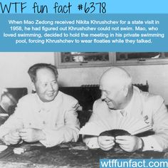 Mao Zedong and Khrushchev - WTF fun facts