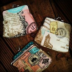 Check out these amazing purses by @Amanda Snelson Mason Alley using our new Vintage Lace Memories fabric, so pretty!