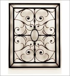 Wrought iron wall decor iron wall decor and iron wall on pinterest - Wrought iron decorative wall panels ...
