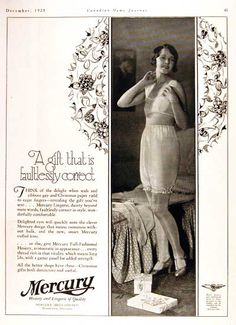 1928 Mercury Lingerie. Yes, because my lingerie should be correct more than anything.