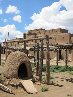 Taos Pueblo - Some of New Mexico's oldest dwellings - built between A.D. 1300 and 1450.