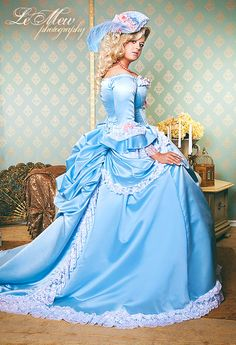 Blue & Pink Fantasy Marie Antoinette by RomanticThreads on Etsy, $1450.00