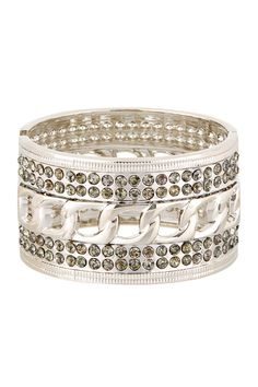 Romeo & Juliet Couture Chain & Stone Cuff Bracelet. I like the links in the middle