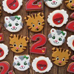 """Amanda Morris on Instagram: """"Daniel tiger's neighborhood! . . . . . . #cookies #sugarcookies #royalicing #decoratedcookies #cookiesofinstagram #instafood #instacookie…"""""""