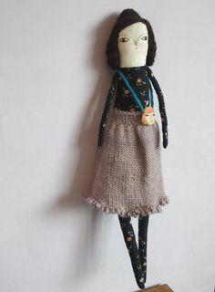 Rose  an Art doll  ooak  Cloth doll by maidolls on Etsy