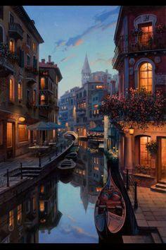Vedere Un molto Bella cita, la Venice Italia (see a very beautiful city, Venice Italy)