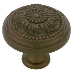 Liberty Hardware 30 mm Round Vintage Knob - Rubbed Bronze (Set of Oil-Rubbd Brnz Cabinet And Drawer Knobs, Kitchen Cabinet Hardware, Cabinet Decor, Furniture Hardware, Cabinet Furniture, Decorative Knobs, Diy Cabinets, Kitchen Cabinets, Knobs And Pulls