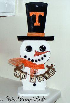 Tennessee Volunteers Snowman - GO UT VOLS!!!