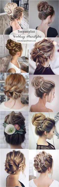 Wedding Hairstyles Updo Magnificent Tonyastylist Wedding Updos Hairstyles for Long Hair Diy Wedding Updos For Long Hair, Long Hair Wedding Styles, Wedding Hair And Makeup, Bridal Hair, Retro Hairstyles, Bride Hairstyles, Hairstyles With Bangs, Summer Hairstyles, Updo Hairstyle