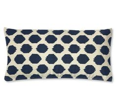 Ikat Dot Printed Canvas Pillow Cover #WilliamsSonoma