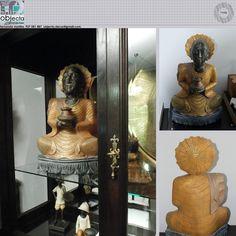 BUDA em madeira,1ª mão (nova)... peça muito bonita e de grande dimensão......muito usado na decoração, devido ao seu significado e simbologia....QUAL A SUA OPINIÃO sobre este nosso Buda? (disponível) www.facebook.com/objecta.segunda.mao