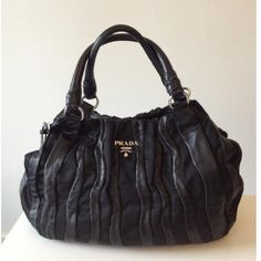 Tip: Prada Handbag (Black) Love my own black Prada handbag and wallet! Yes, only one...worked a lot of overtime for that purchase!