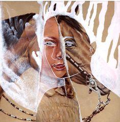 lampman - mixed media collage (that's kinda freaking me out. Mixed Media Collage, Collage Art, Collages, Art Poses, People Art, Art Journal Inspiration, Canvas Artwork, Fabric Art, Portrait Art