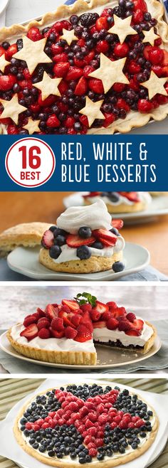 16 Best Red, White and Blue Desserts: Go out with a bang! You'll be proud to serve these patriotic pies, cookies and cakes.