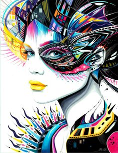 Hot DIY Diamond Mosaic Embroidery Pretty Girl Cross Stitch Home Furnishings Diamond Painting pictures by numbers Art And Illustration, Tableau Pop Art, L'art Du Portrait, Portraits, Cross Paintings, Art Paintings, Psychedelic Art, Art Design, Graphic Design