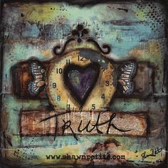 Truth 12x12 print of original mixed media on by ShawnPetite, $20.00