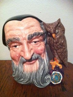 "Royal Doulton LARGE Character Toby Jug ""MERLIN"" 1959 -it reminds me of the wizard from the hobbit. No im not talking about Gandalf."