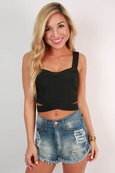 This sexy little crop top is perfect for a night out!