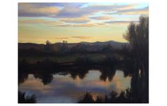 Waikato River at Dusk (Oil on Canvas, 16 x 20″). This is a view of the beautiful Waikato river from across where I live. The source photo is below. I guess I had to post this painting. It is …