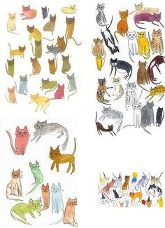 cats illustrations - Cerca con Google