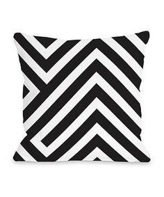Love this Black & White Stella Geometric Pillow on #zulily! #zulilyfinds