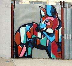 Nardstar street art in Bushwick, Brooklyn