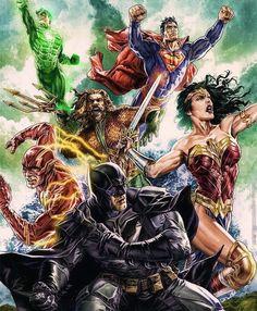 Justice League. by Lee Bermejo