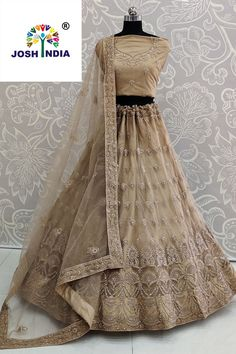 Latest brown color net lehenga choli for wedding.For order whatsapp us on combinations wedding ideas for girls kids simple combinations wedding ideas wear Net Lehenga, Lehenga Choli, Black Lehenga, Fashion Studio, Party Wear, Color Combinations, Bridesmaid, Wedding Ideas, Traditional