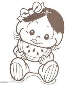 Risco para pinturas: turma da monica baby