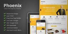 Download and review of Phoenix - Clean Responsive Wordpress Theme, one of the best Themeforest Corporative themes