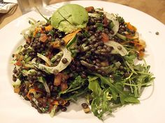This is my favorite avocado and lentil salad. It's super fresh tasting,