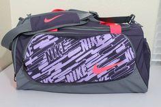 "Nike unisex small duffel gym bag luggage 20"" x 10"" x 11"" approx. purple new  #Nike"