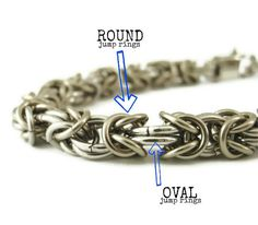Economical Stainless Steel Bracelet Kit  -  Byzantine Chainmail - OVAL and Round jump rings -  Perfect Starter Kit