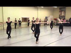 Trainee Level Ballet Technique Class - Battement Tendu With Pirouette En Dehors Combination - YouTube