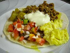In the Honduras there's a traditional fast food snack called a baleada.