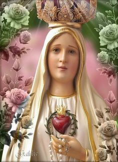 Our Lady of Fatima Mother Mary Images, Images Of Mary, Blessed Mother Mary, Blessed Virgin Mary, Jesus Mother, Madonna, I Love You Mother, Jesus E Maria, Mama Mary